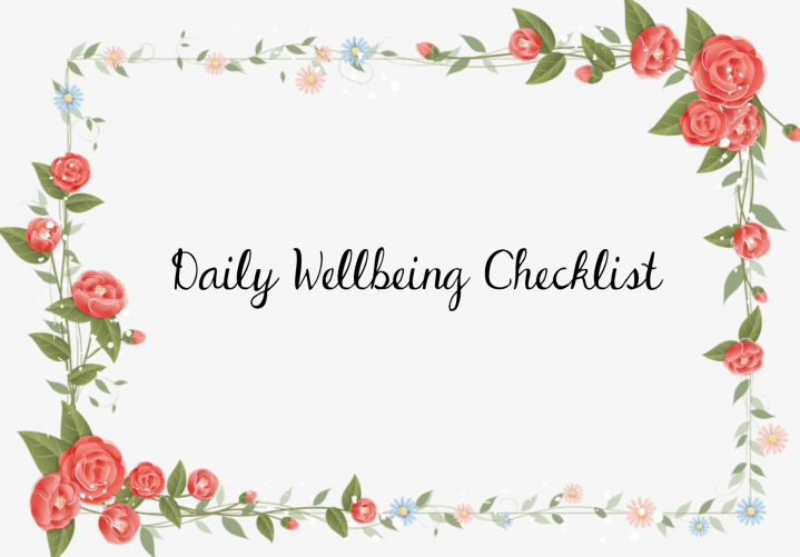 Resource: Daily Wellbeing Checklist